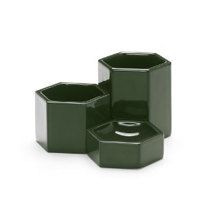 Hexagonal Containers Dark Green
