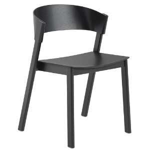 Cover Side Chair Wooden Seat Black
