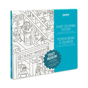 Giant Coloring Poster - Crazy Museum