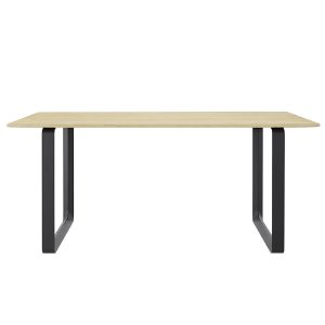 70/70 Table Solid Oak/Black