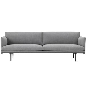Outline Sofa 3-Seater/Black Base Fiord 151