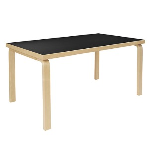 Aalto Table 82A Black/Birch 주문후 2~3개월 소요