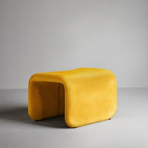 Etcetera Footstool Canary Yellow