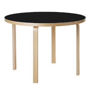 Aalto Table 90A Black/Birch  주문후 2~3개월 소요