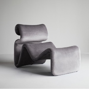 Etcetera Lounge Chair Zink Grey