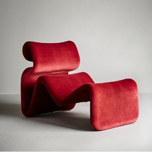 Etcetera Lounge Chair Ruby Red