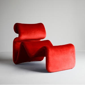 Etcetera Lounge Chair Chili Red
