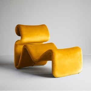 Etcetera Lounge Chair Canary Yellow