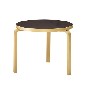 Aalto Table 90B Black/Birch  주문후 2~3개월 소요