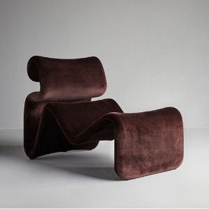 Etcetera Lounge Chair Chocolate Brown