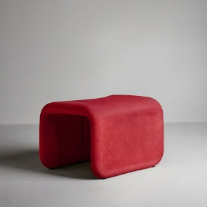 Etcetera Footstool Ruby Red