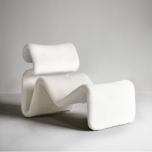 Etcetera Lounge Chair Creme White