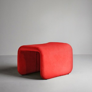Etcetera Footstool Chili Red