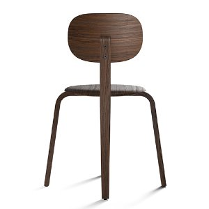Afteroom Plywood Dining Chair Dark Stained Oak