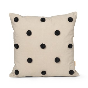 Dot Tufted Cushion Sand/Black