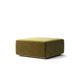 Eave Modular Sofa 86 Pouf City Velvet Yellow Khaki