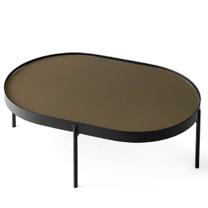 NoNo Table Large Brown Glass