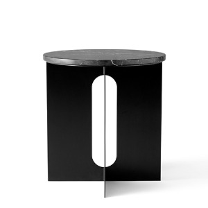 Androgyne Side Table Black Steel/Nero Marquina Marble   현 재고