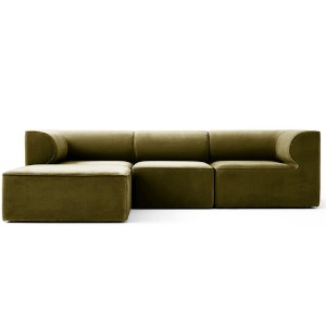 Eave Modular Sofa 86 Configuration City Velvet Yellow Khaki