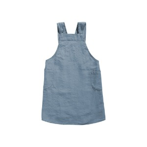 Japanese Apron Kid Blue Grey