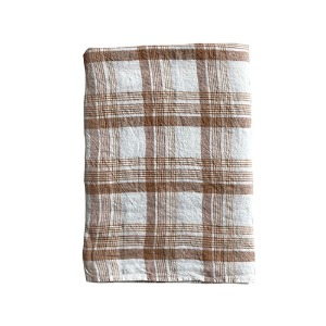 Duvet Cover 100x140cm Caramel Checks