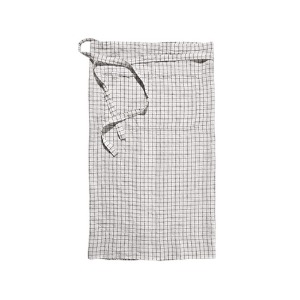 Bistro Apron White Black Checks