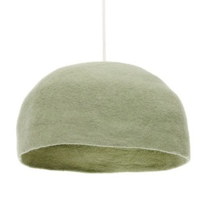 Big Reversible Lampshade L Tender Green