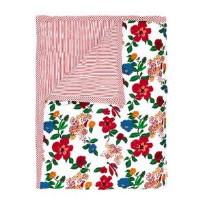 Reversible Quilted Bed Cover Hibiscus 150x220cm