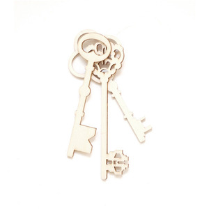 Plywood Key Ornaments, Natural (50% sale)