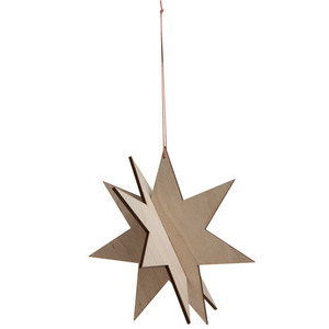 Wooden Star - Birch (30% sale)