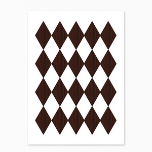 Wooden Harlequin Postcard