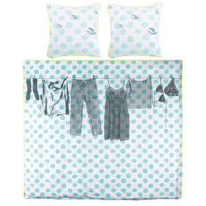 Duvet cover dressing and blue dots (싱글/킹)