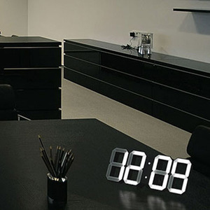 white & white clock(black edition)