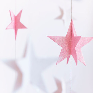 Glitter Star on String