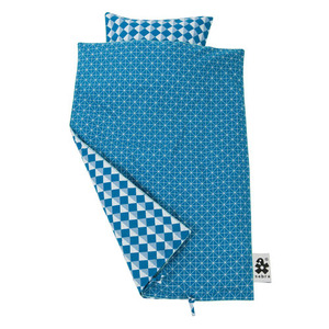 graphic blue bedding set (junior/single) - 50%