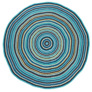 Crochet Floor Mat S Multicolor Boy