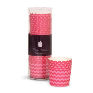 Baking Cup-Berry Pink Chevron