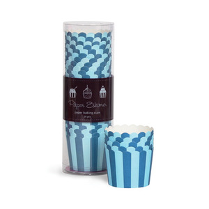 Baking Cup Blue Stripes [1+1]