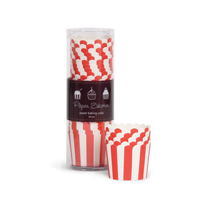 Baking Cup Red Stripes [1+1]
