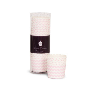 Baking Cup Pink Blush Chevron [1+1]