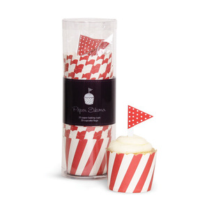Baking Cup Toppers Red Candy Stripes [1+1]