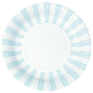 Paper Plates Powder Blue