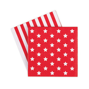 Paper Napkins Red Star [1+1]
