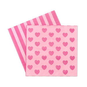Paper Napkins Pink Heart