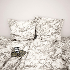 Marble Bedding Grey Single  (30% sale)