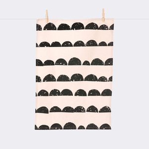 Half Moon Tea Towel - Rose