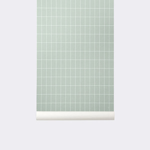 Grid Wallpaper - Dusty Green