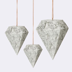 Paper Diamond Marble - Set of 3 (30% sale)