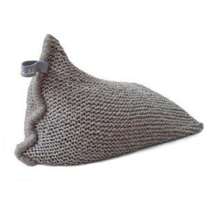 [예약배송]NEST knitted bean bag - greyish brown