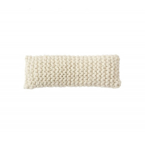 WOOLY CHUNKY knitted cushion - white